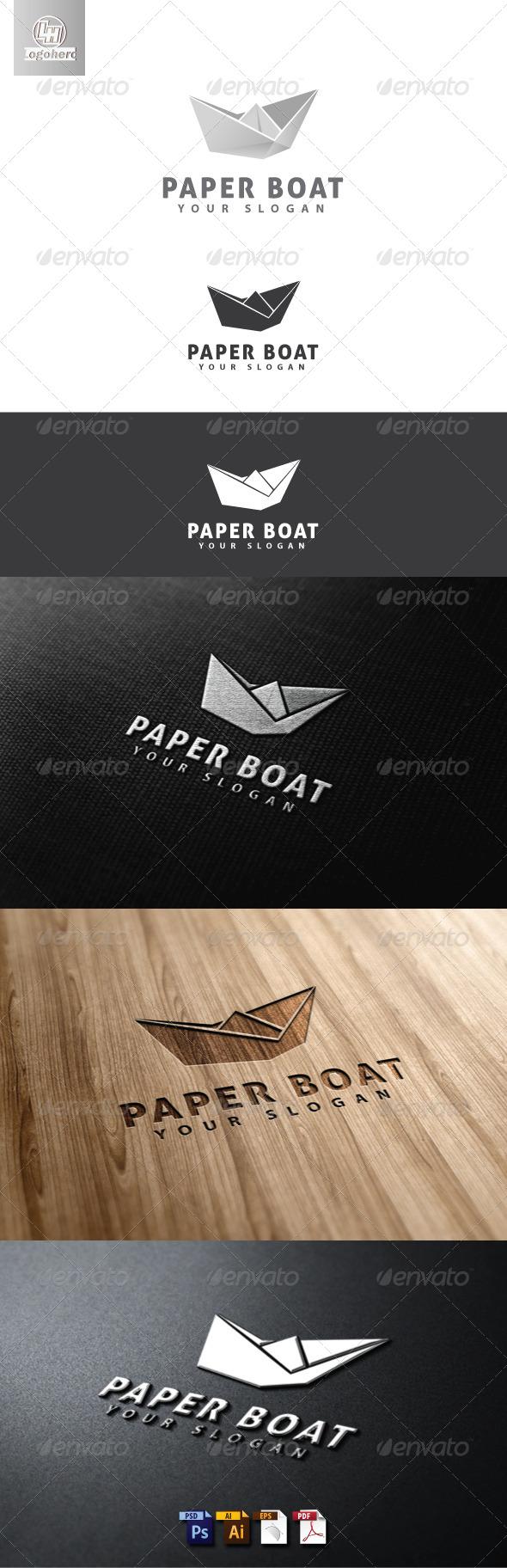 GraphicRiver Paper Boat Logo Template 4655587