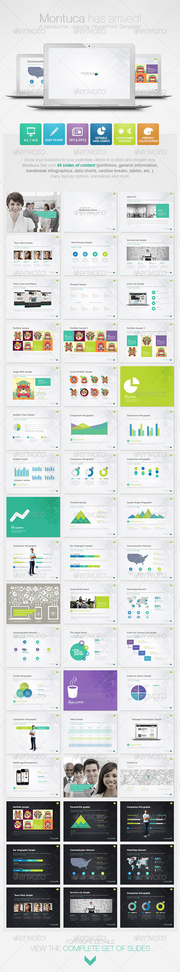 GraphicRiver Montuca Powerpoint Presentation Template 4600036
