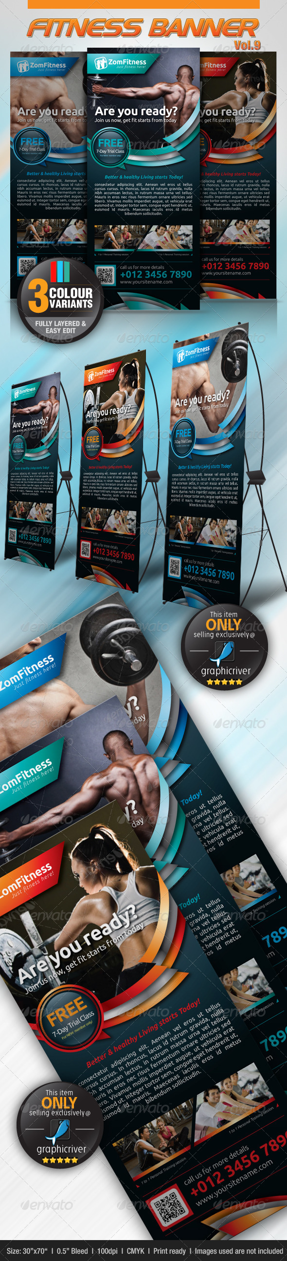GraphicRiver Fitness Banner Vol.9 4655606