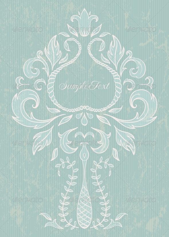 GraphicRiver Floral Design Element 4655857