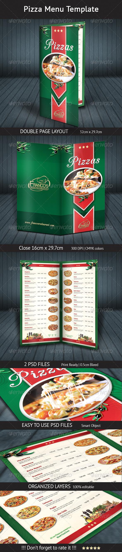 GraphicRiver Pizza Menu Template 4655882