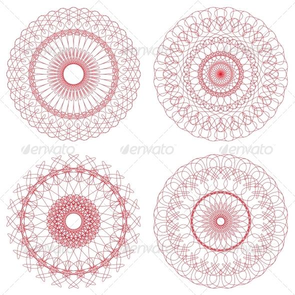 GraphicRiver Set of Vector Guilloche Rosettes 4656237