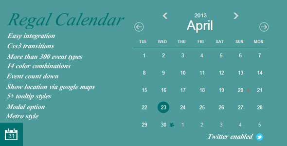 RegalCalendar - CodeCanyon Item for Sale