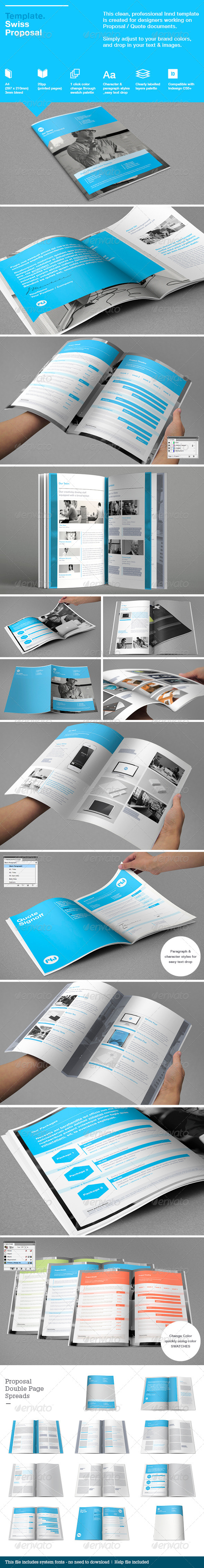 Swiss Proposal Template - Brochures Print Templates