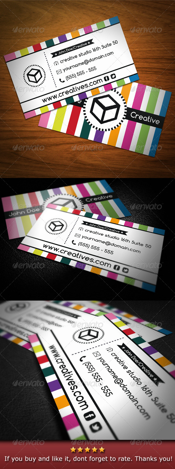 GraphicRiver Colorful Creative Business Card 4656936