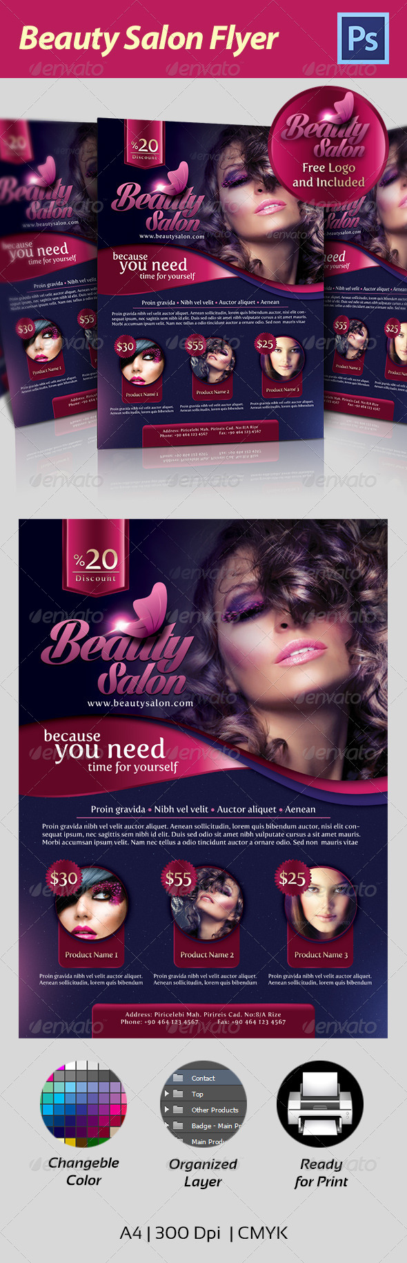 GraphicRiver Beauty Salon Flyer 4657353