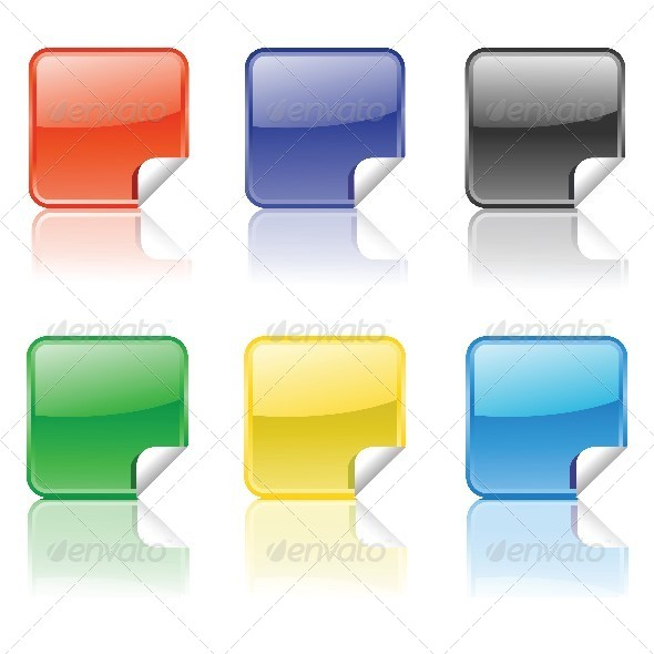 GraphicRiver Set of Stickers 4657436