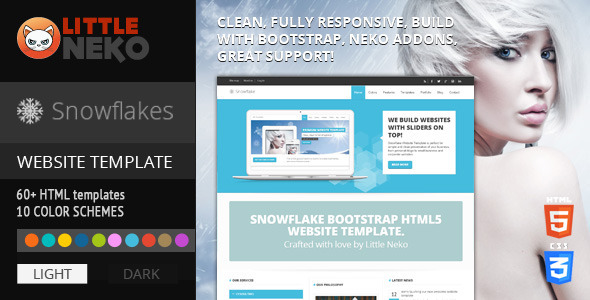 ThemeForest Snowflake Responsive Bootstrap Website Template 4474194