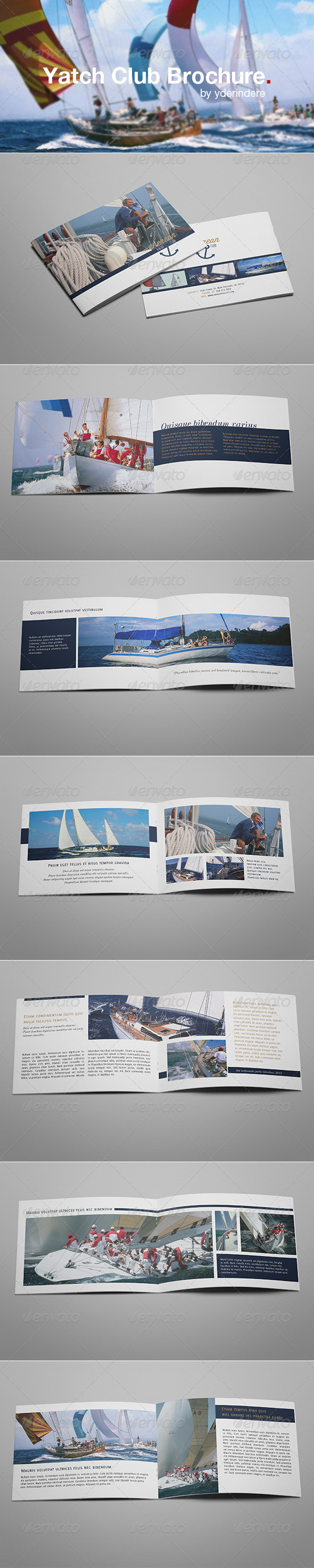 Yacht Club Brochure - Informational Brochures