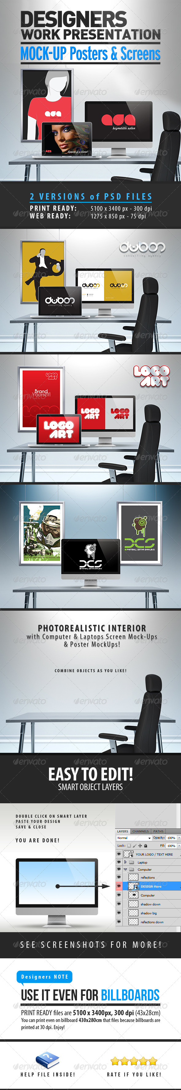Designers Work Mock-Up - Miscellaneous Product Mock-Ups