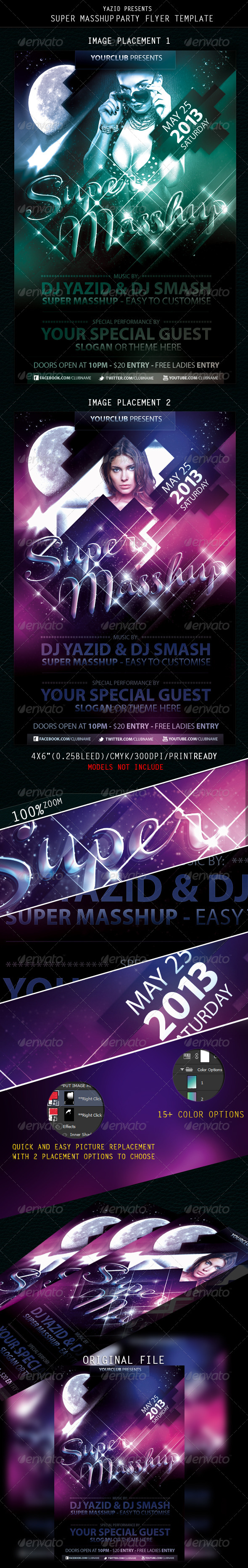 SuperMasshup Part Flyer Template - Clubs & Parties Events