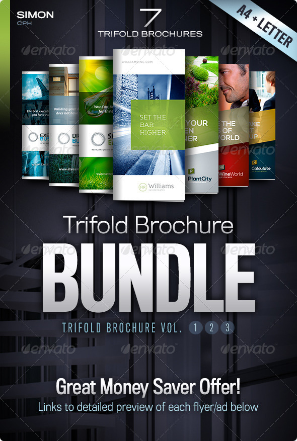 GraphicRiver Trifold Brochure Bundle Vol 1-2-3 4657798