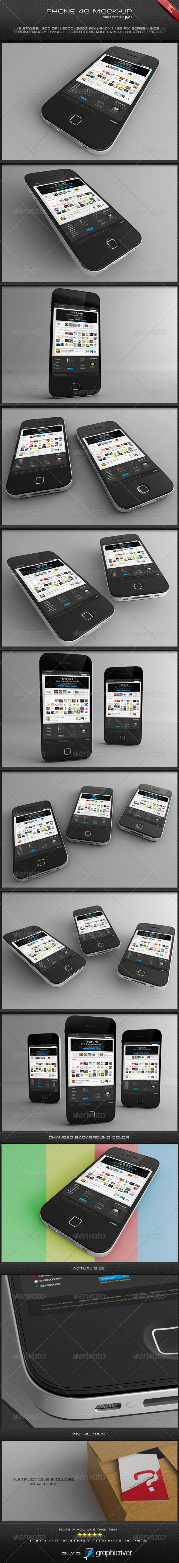GraphicRiver Phone 4G Mock-Up 4581649