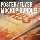 Poster & Flyer Perspective Mockup Bundle