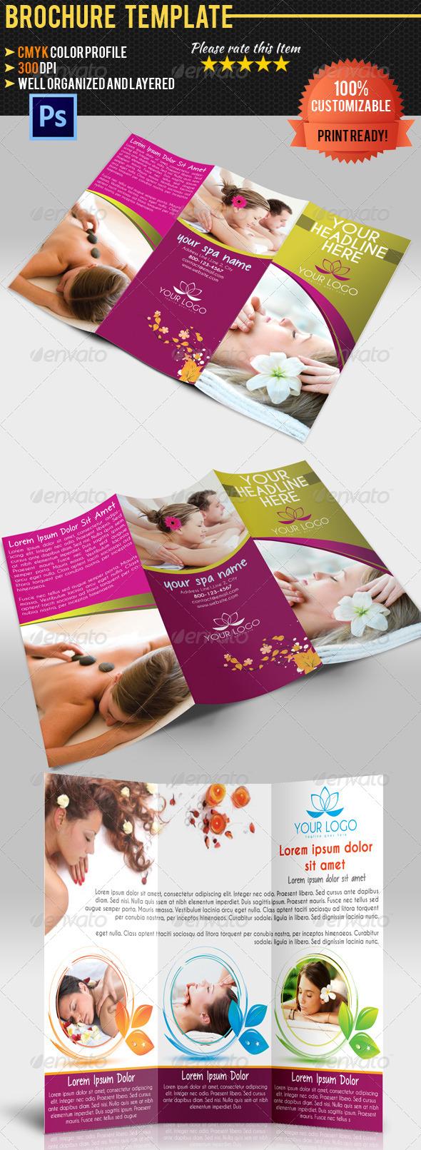 GraphicRiver Spa Center TriFold Brochure 4657968