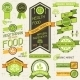 Organic Food Banners. Set of Labels and Stickers. - GraphicRiver Item for Sale