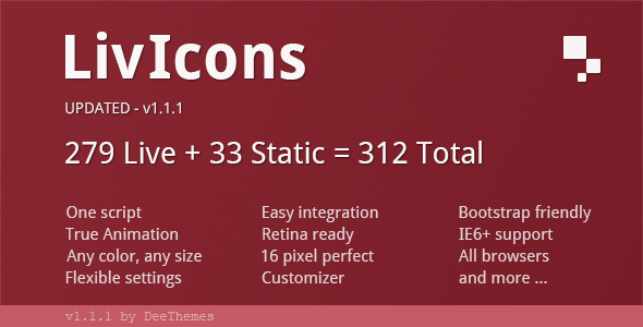 LivIcons - 303 Truly Animated Vector Icons - CodeCanyon Item for Sale
