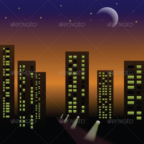 GraphicRiver Night City 4658100