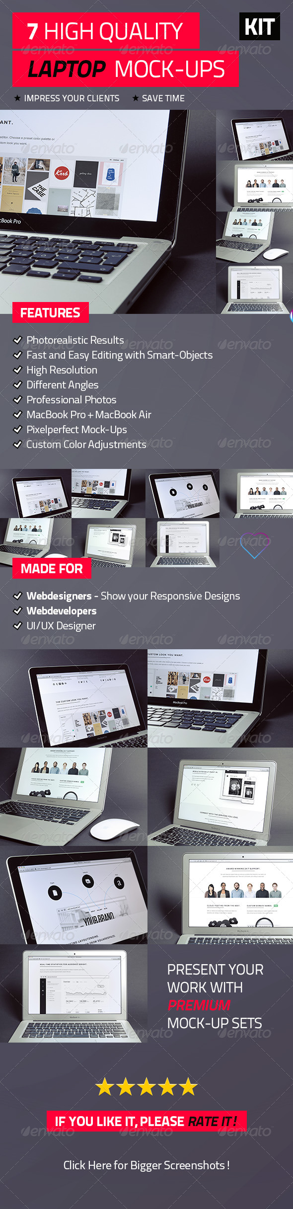 7 High Quality Laptop Mock-Ups - Laptop Displays