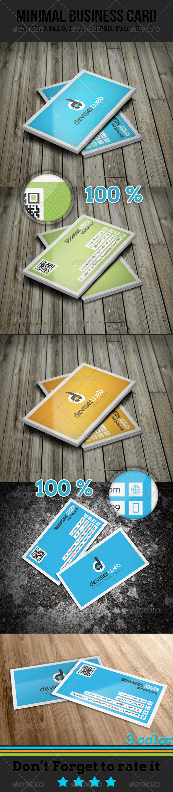 GraphicRiver Minimal Business Card 4658330
