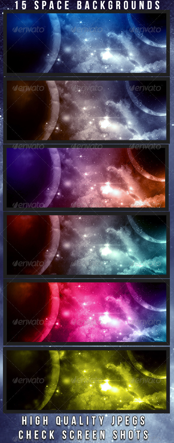 GraphicRiver Space Backgrounds 4658368