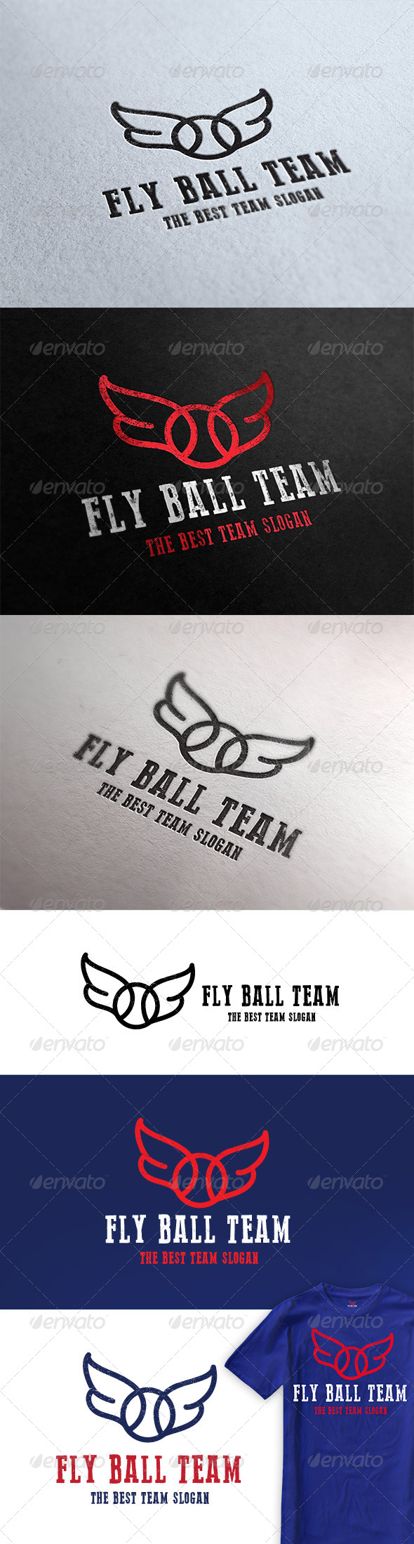 GraphicRiver Fly Ball Team Logo 4658466