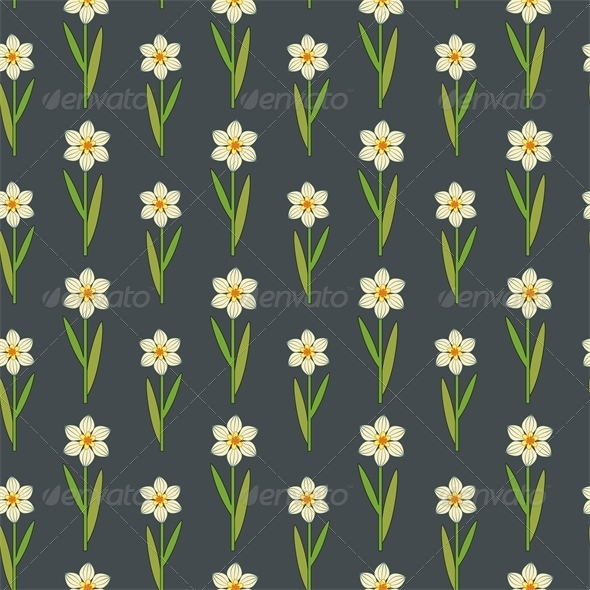 GraphicRiver Daffodils Pattern 4658538