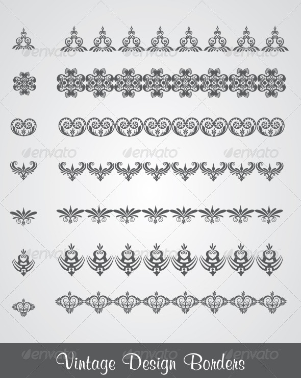 GraphicRiver Borders and Dividers in Retro Style 4658891