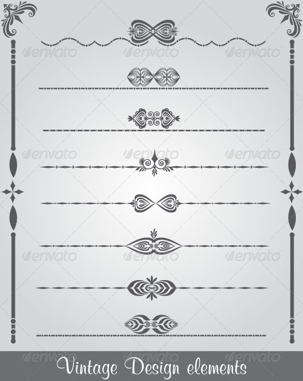 GraphicRiver Borders and Monograms 4658926