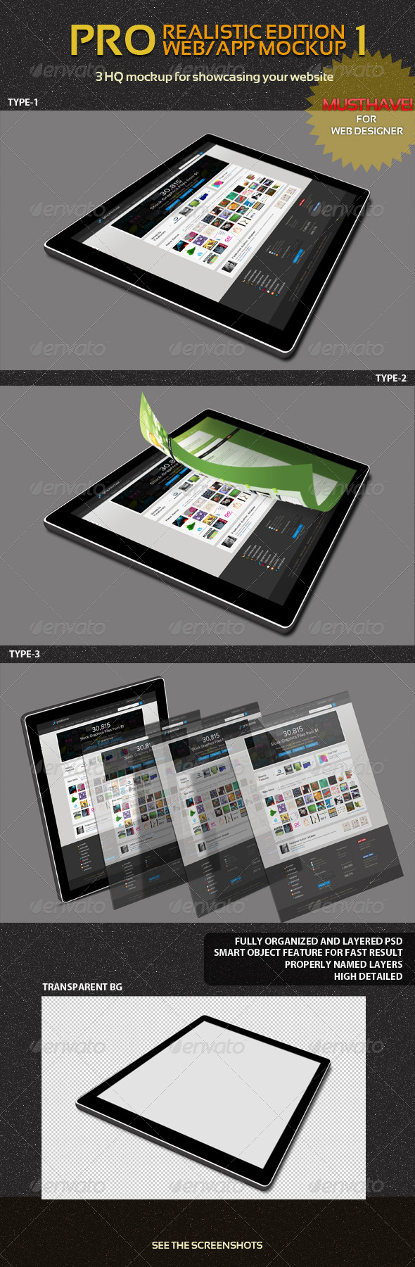 GraphicRiver Pro Web App Mockup Pack 1 4658931