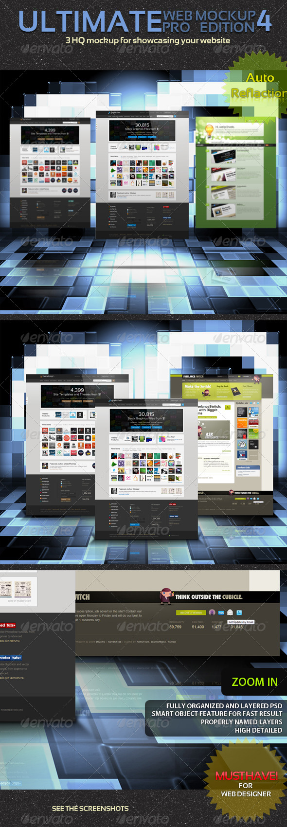 GraphicRiver Ultimate Web Mockup Pack 4 4658973