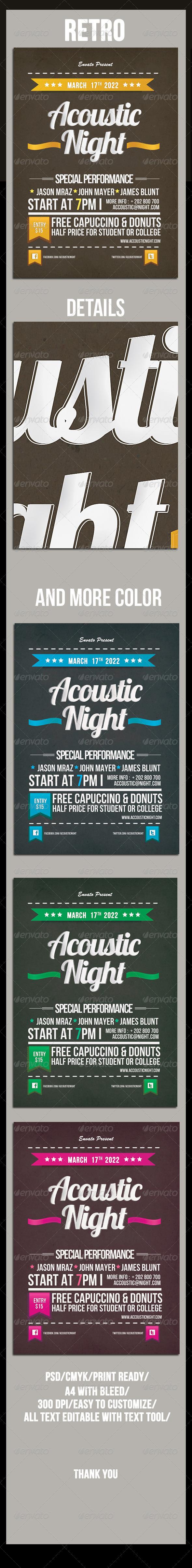 GraphicRiver Retro Night Flyer 4659017