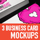 3 Business Card Mock-Ups - GraphicRiver Item for Sale