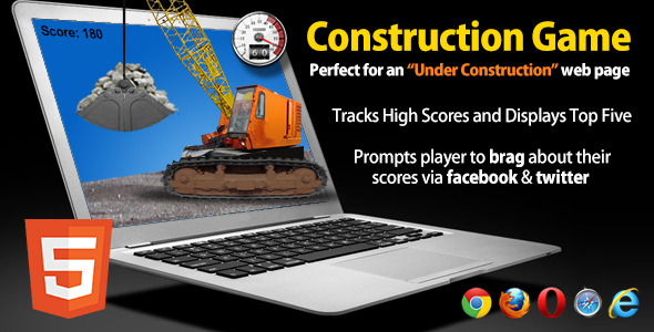 CodeCanyon Under Construction HTML5 Game with Social Sharing 4659477