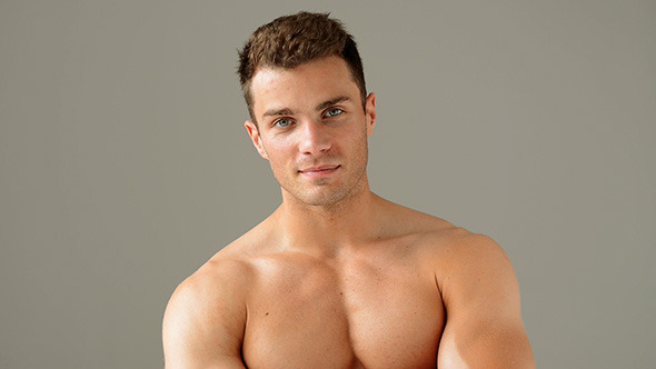 Portrait of Handsome Muscular Man