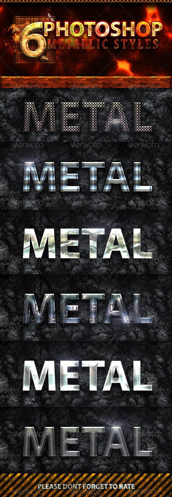 GraphicRiver 6 Photoshop Metallic Text Styles 4659520