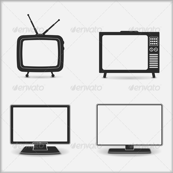 GraphicRiver TV Icons 4659523