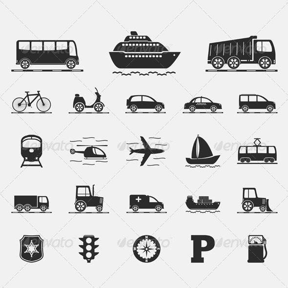 GraphicRiver Transport Icons 4659530