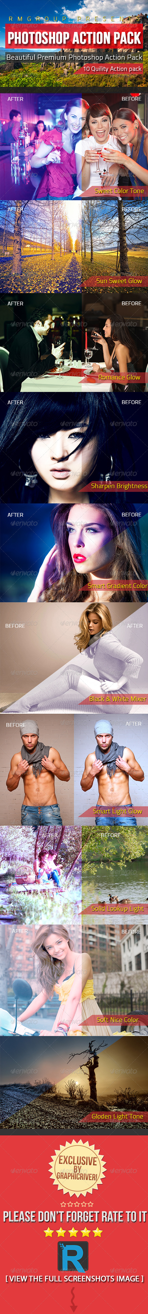 GraphicRiver Beautiful Premium Photoshop Action Pack 4659674