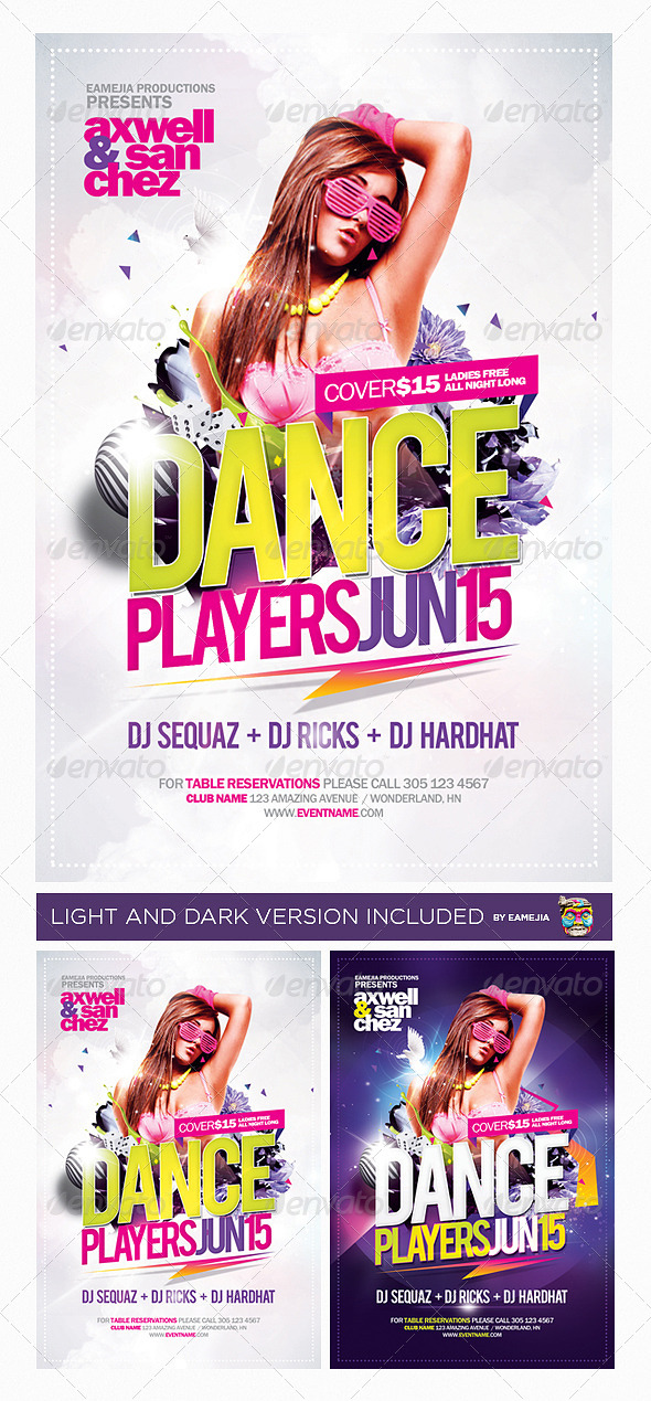 Dance Players Flyer Template - Events Flyers