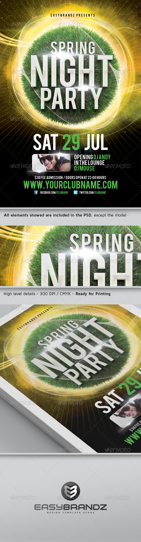 GraphicRiver Spring Night Flyer Template 4575642