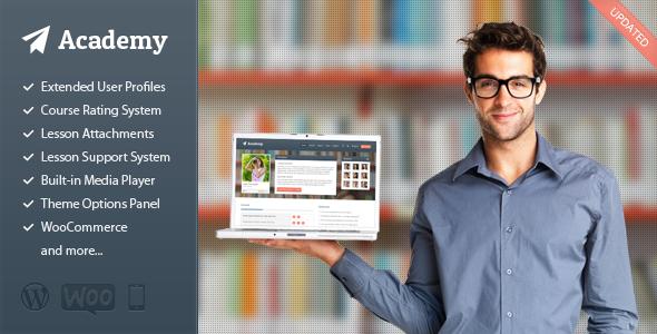Tema de WordPress para plataforma de Learning y cursos: Academy