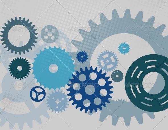 GraphicRiver Machine Gear Wheel Cogwheel Pattern 4659731