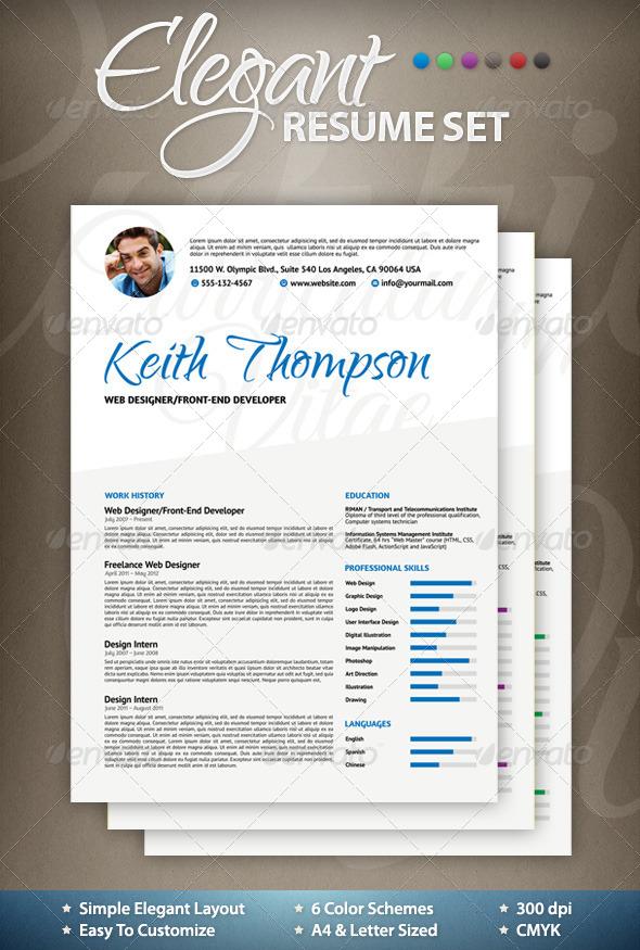 GraphicRiver Elegant Resume CV 4659735