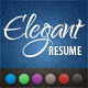 Elegant Resume/CV  - GraphicRiver Item for Sale