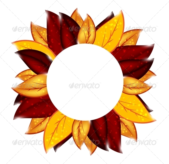Abstract Nature Background with Leaves