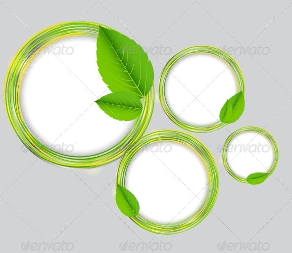GraphicRiver Abstract Nature Background with Leaves 4659862