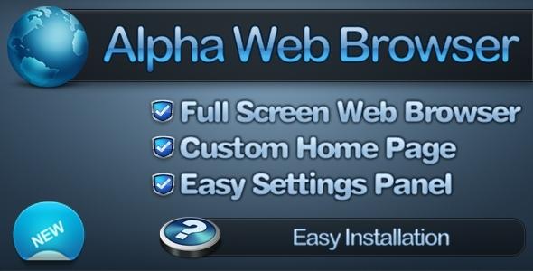 CodeCanyon Alpha Full Screen Web Browser 4659892