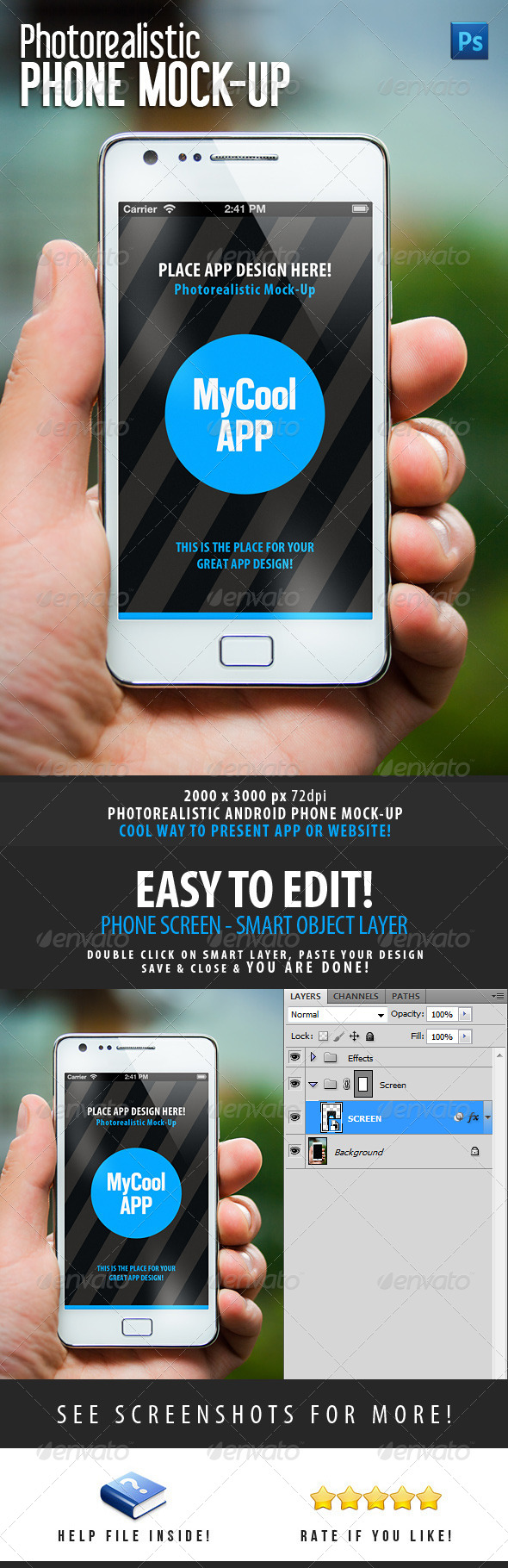 GraphicRiver Photorealistic Phone Mock-Up 4659911