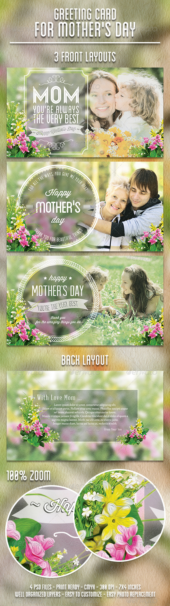 GraphicRiver Greeting Card for Mother s Day 4659942